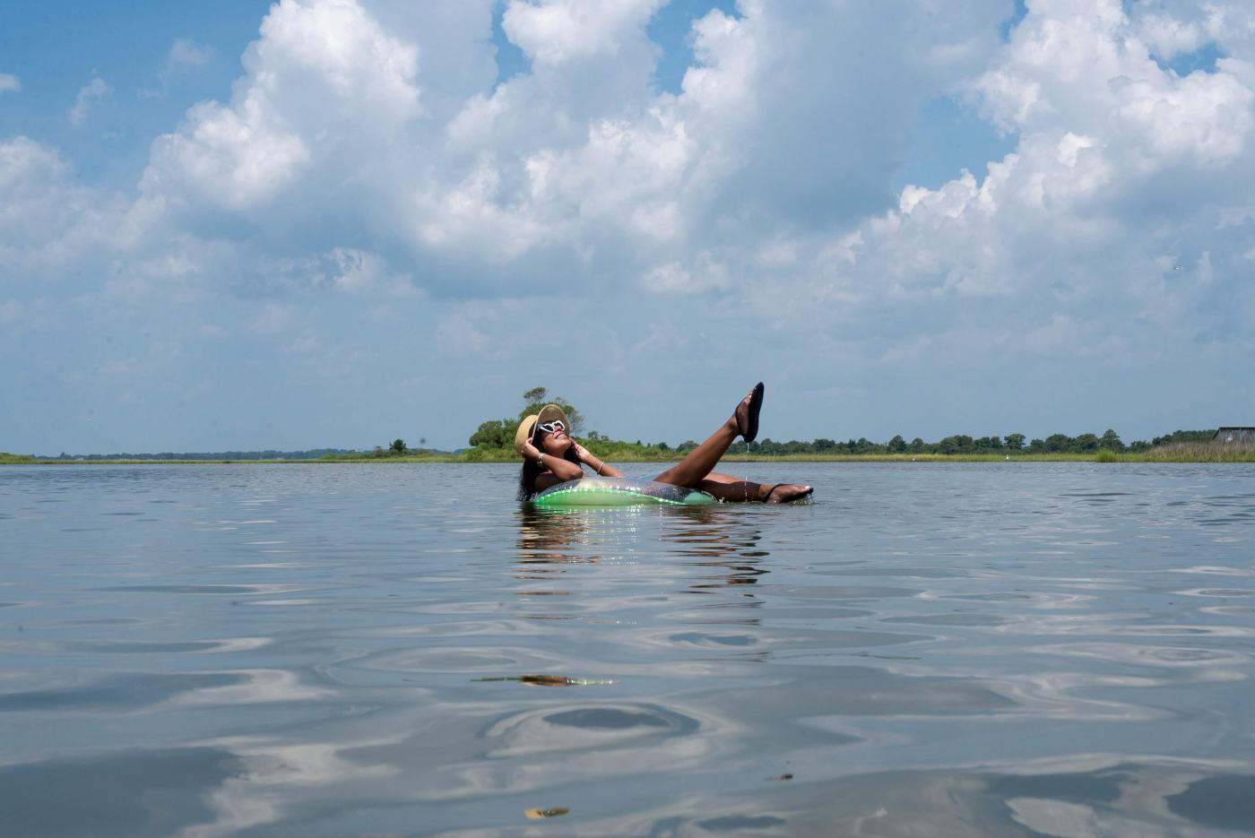 Lounging in the Bay on Assateague Island