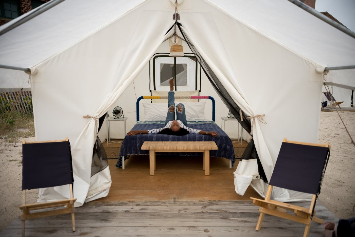 Glamping in New York City at Camp Rockaway