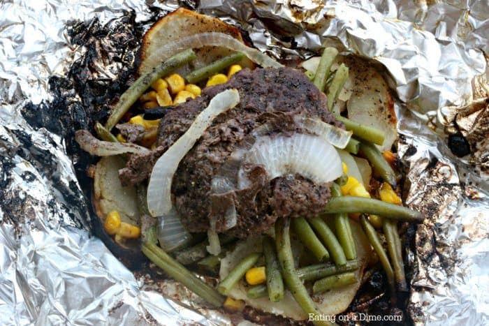 Hobo Dinner Foil Packet Meal - The best hobo dinner recipe