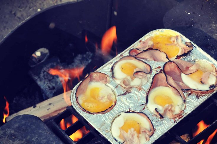 Campfire Egg Cups with Ham | An Easy Camping Breakfast