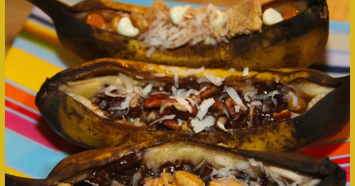Grilled Dessert Bananas | S'mores, Chocolate- Coconut, and Elvis!