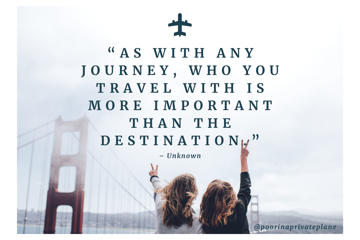 As with any journey, who you travel with is more important than the destination.
