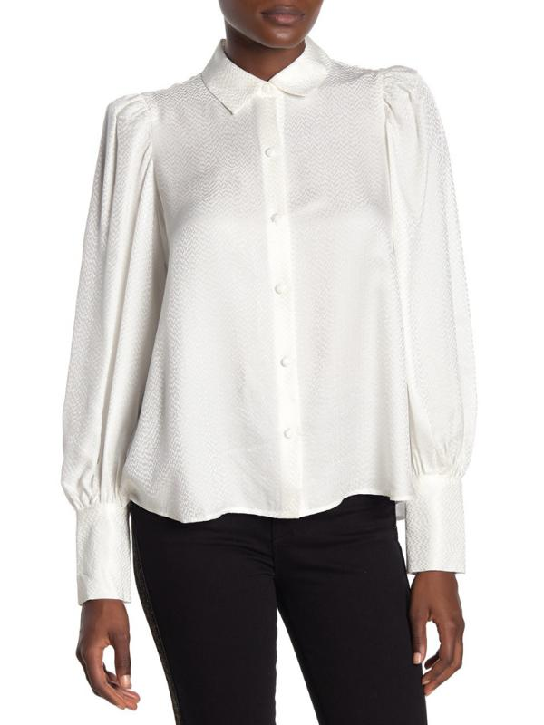 White blouse rented from Armoire Style
