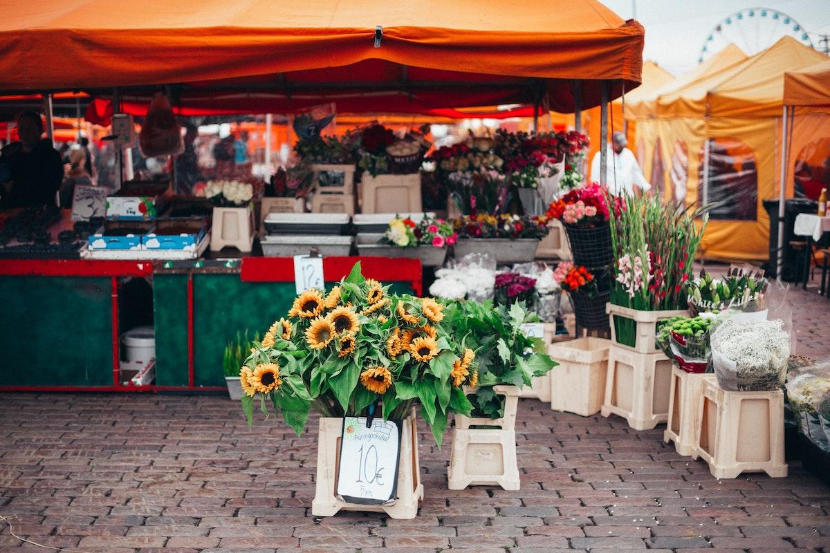 Visiting a farmer's market