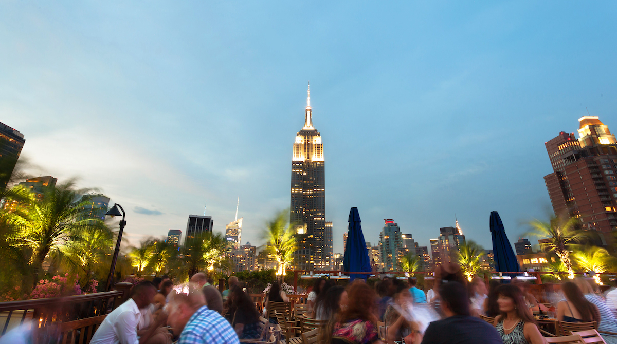 Visit 230 Fifth during your NYC Staycation for amazing views (And happy hour).